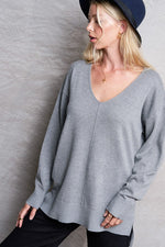Chill at Home Top - Heather Grey & Lavender