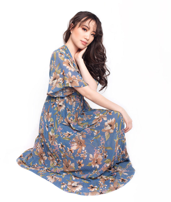 Blue Floral Dress - SOLD OUT