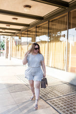 Everyday Romper (PLUS SIZE) - Grey