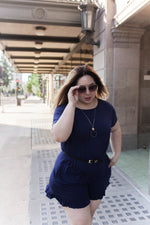 Everyday Romper (PLUS SIZE) - Navy Blue
