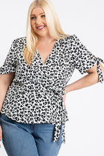 Leopard Peplum Top - PLUS SIZE