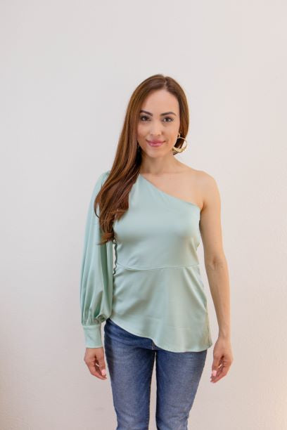 A Night Out Blouse - Mint