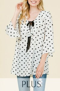 Polka Dot Tunic (PLUS SIZE)
