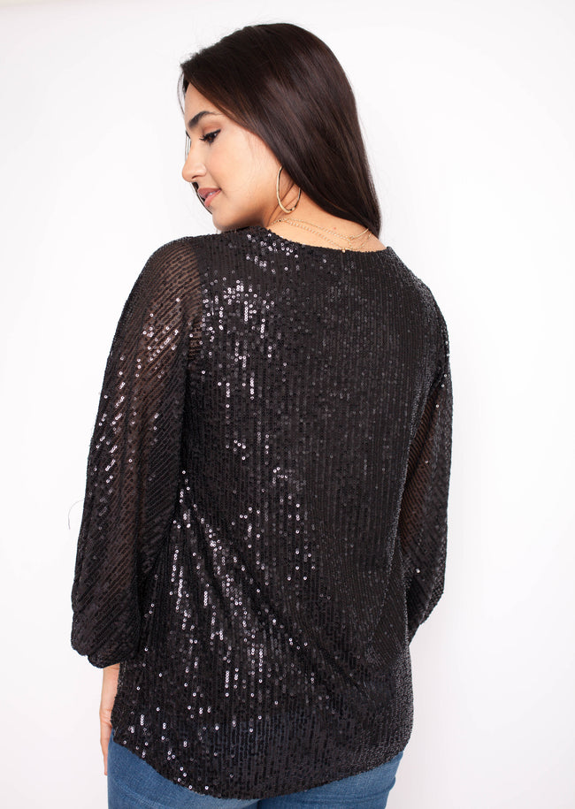 I Sparkle Top - Black