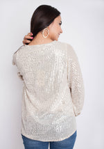 I Sparkle Top - Cream