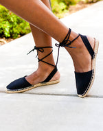Espadrille Lace Up Sandals
