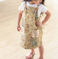 Heather Pinafore - Retro Floral Jacquard