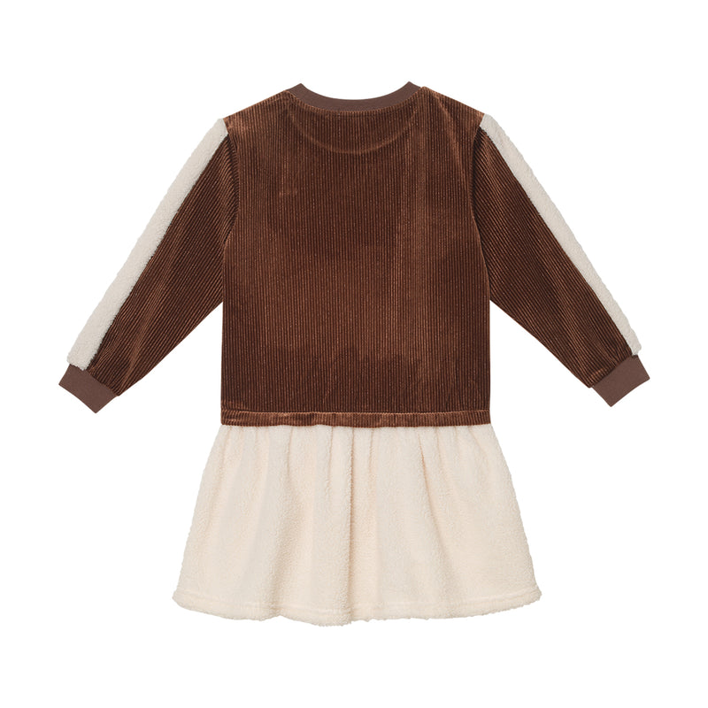 Winona Dress - Caramel Velour