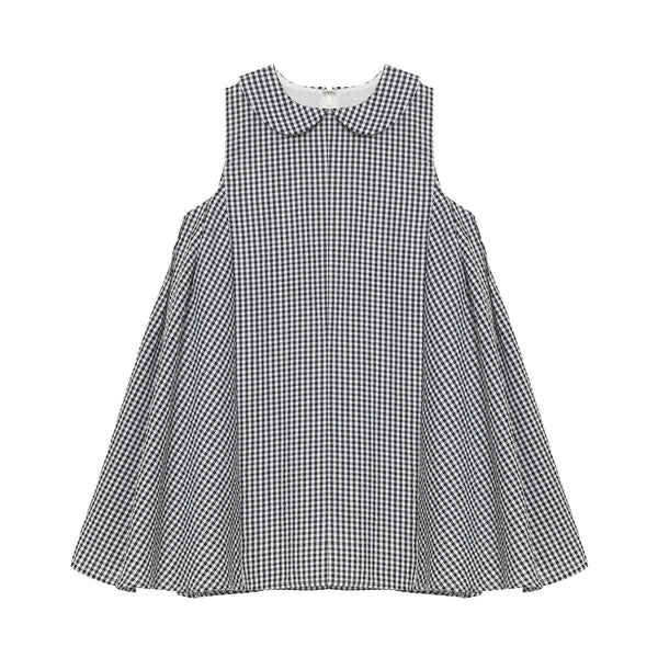 Layla Dress - Mono Gingham