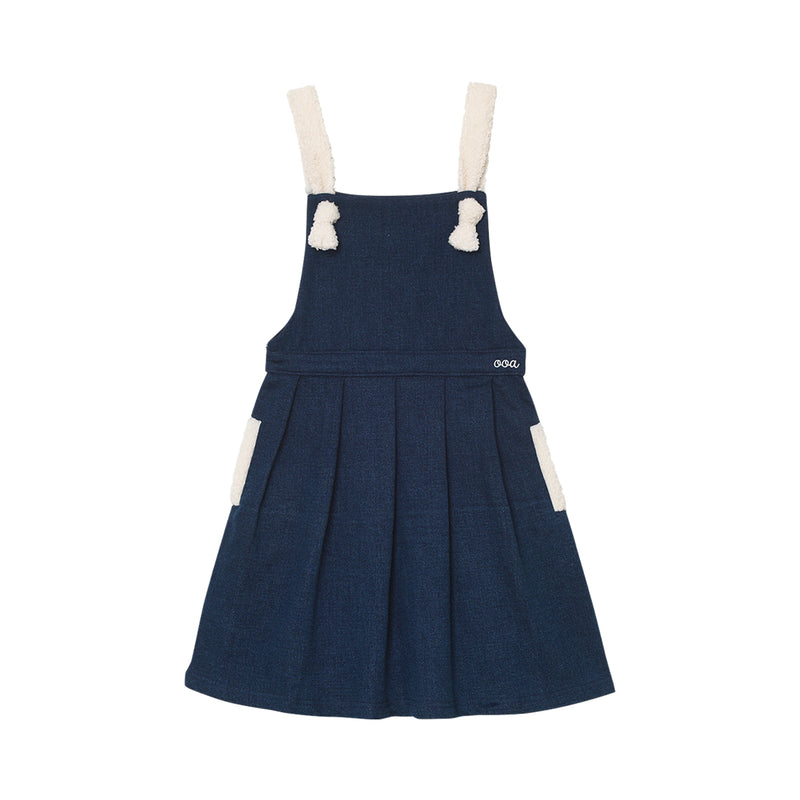 Rachelle Pinafore - Denim Blue