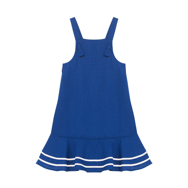 Kelsey Dress - Ultramarine with Crème White Trim