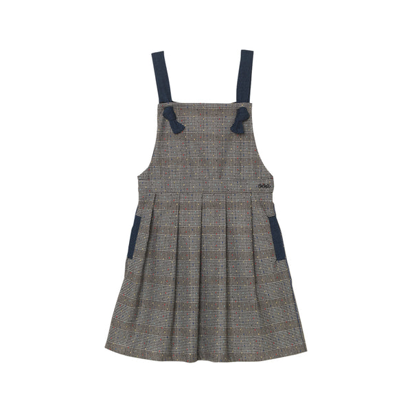 Rachelle Pinafore - Dotted Houndstooth