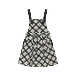 Rachelle Pinafore - Woolen Plaid