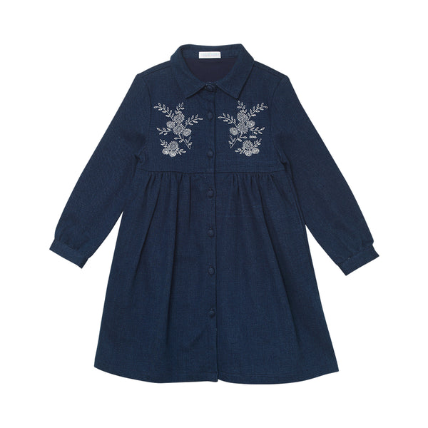Melissa Shirt Dress - Denim Blue