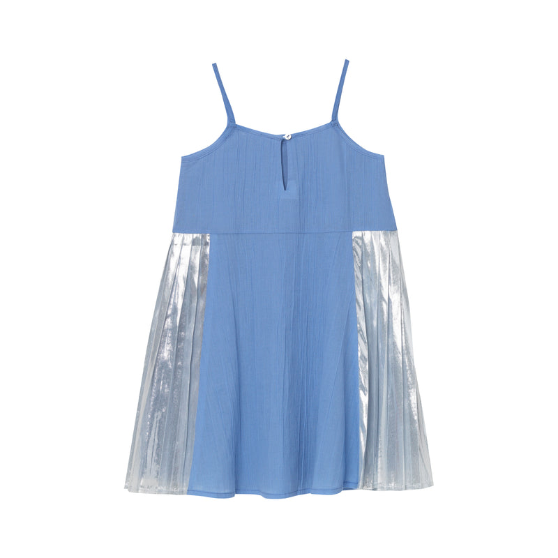 Danielle Pleated Dress - Bluebell