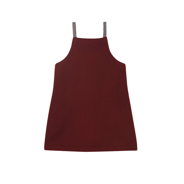 Heather Pinafore - Burgundy