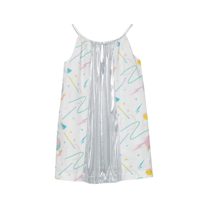 DeLorean Halter Dress - Retro Futuristic Print