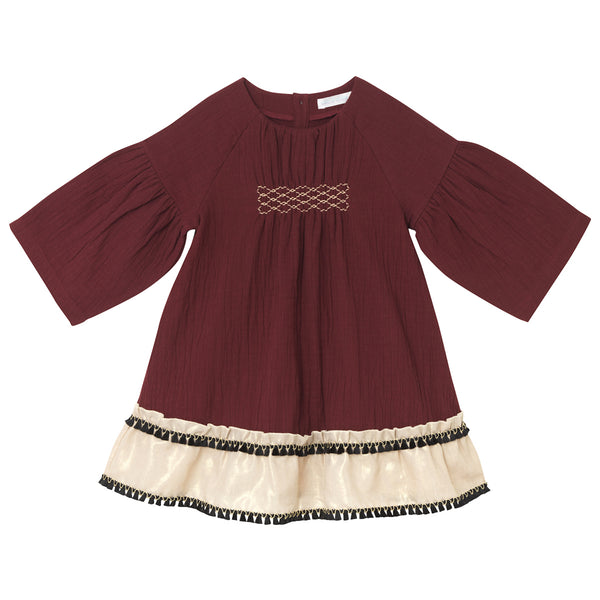 Winona Dress - Burgundy
