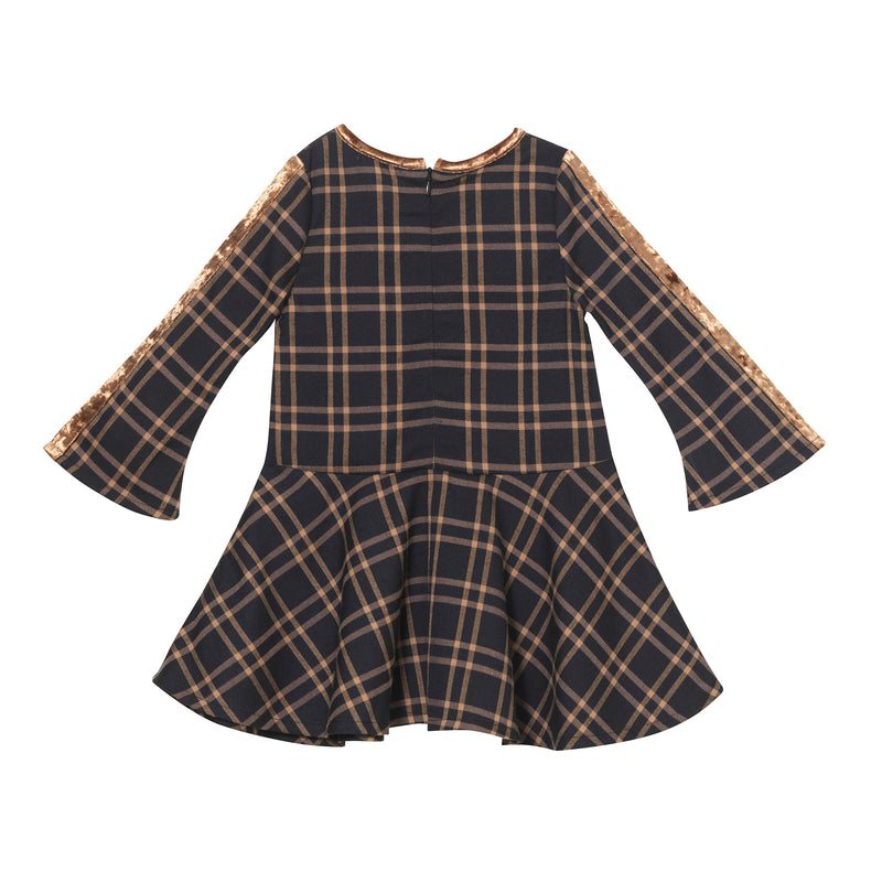 Madonna Dress - Brown Window Plaid