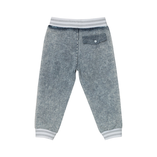 J. Fox Jersey Pants - Stone Washed Denim