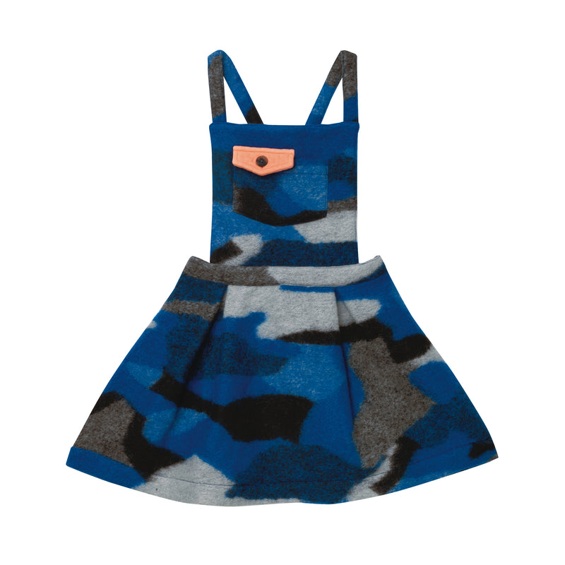 Emma Pinafore - Blue Camo