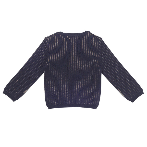 Spencer Pullover - Navy Lurex