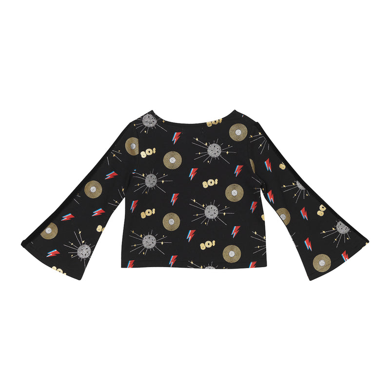 Madonna Crop Top - Disco Party Print