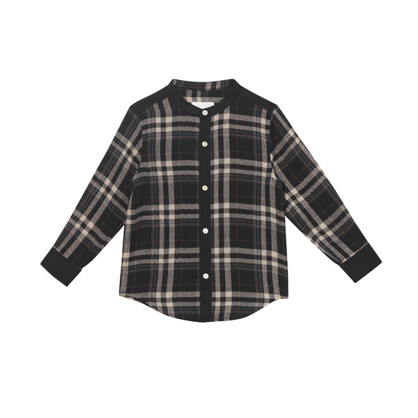 Carl Shirt - Charcoal Glen Plaid