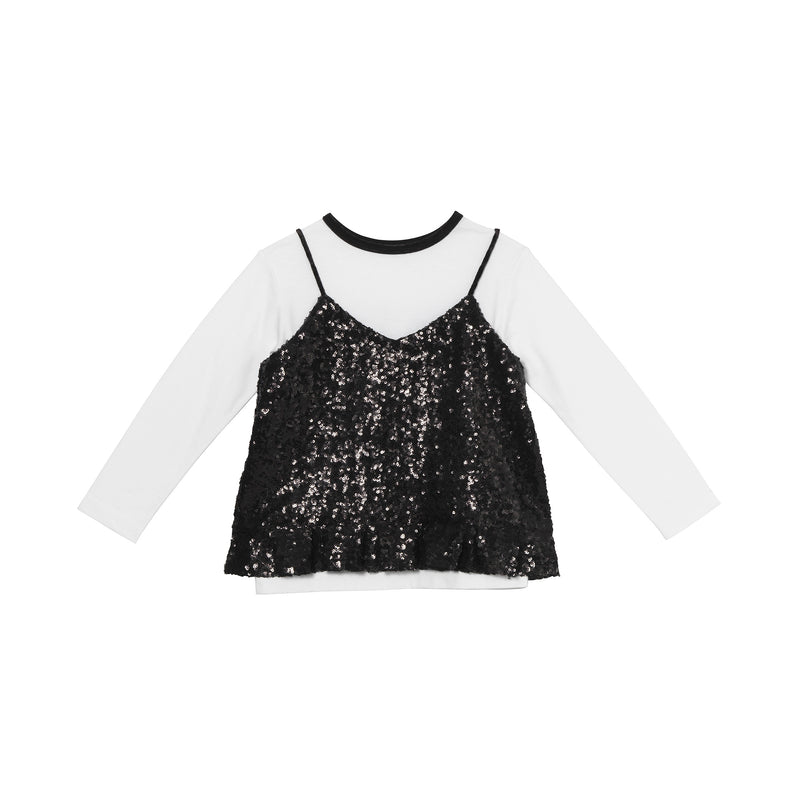 Dionne Top - Black Sequins