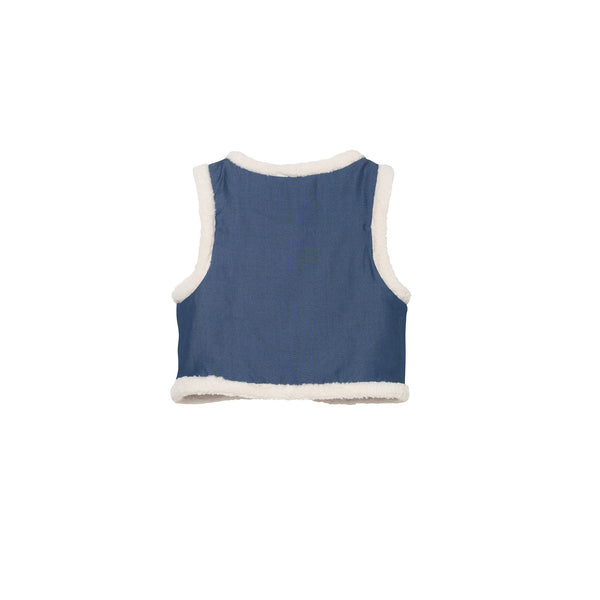 Gwen Vest - Denim Blue