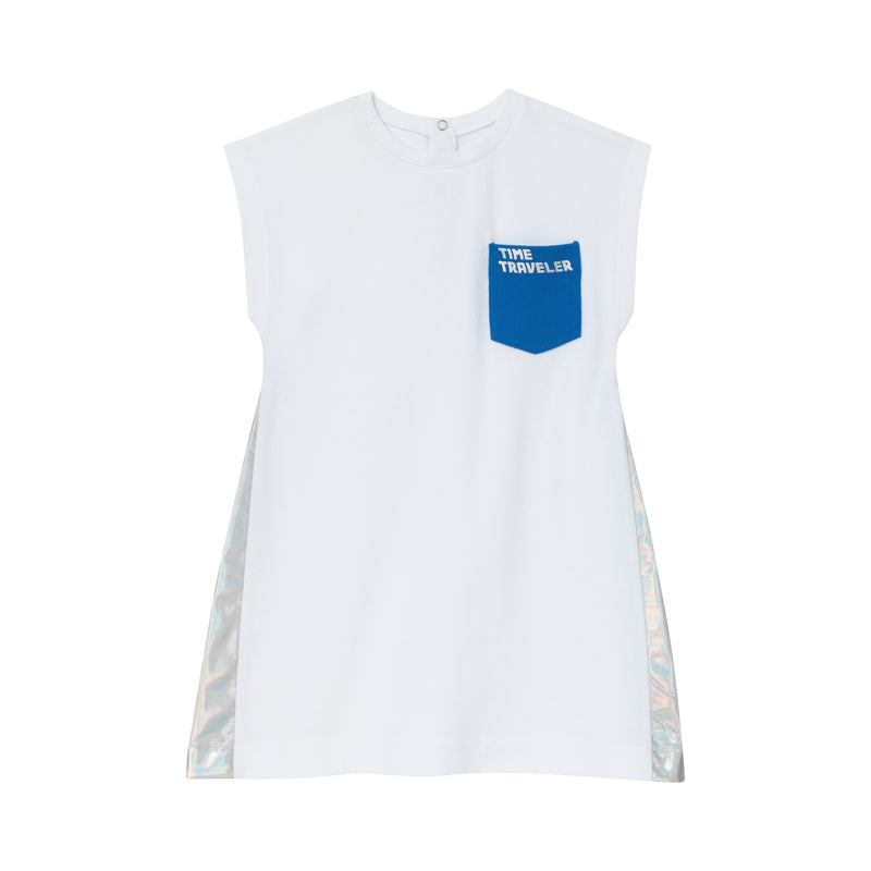 Skyline Shift Dress - White Pique