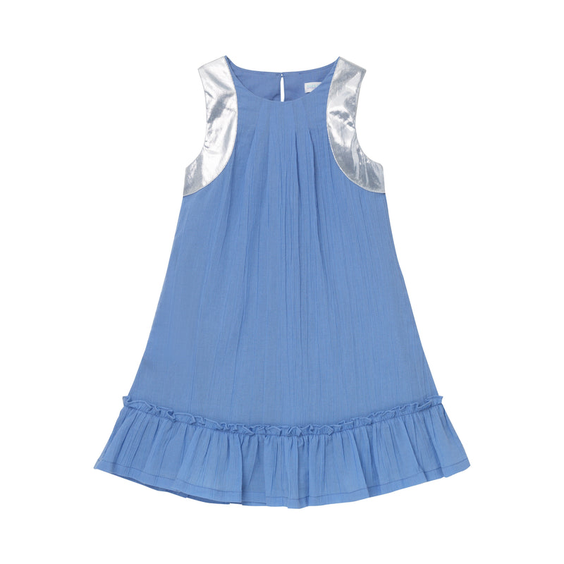 Barbarella Tier Dress - Bluebell