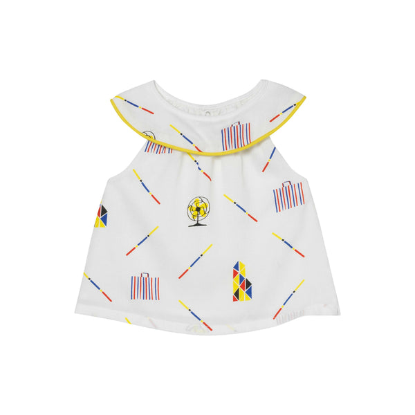 Half Moon Top - Hong Kiddo Print