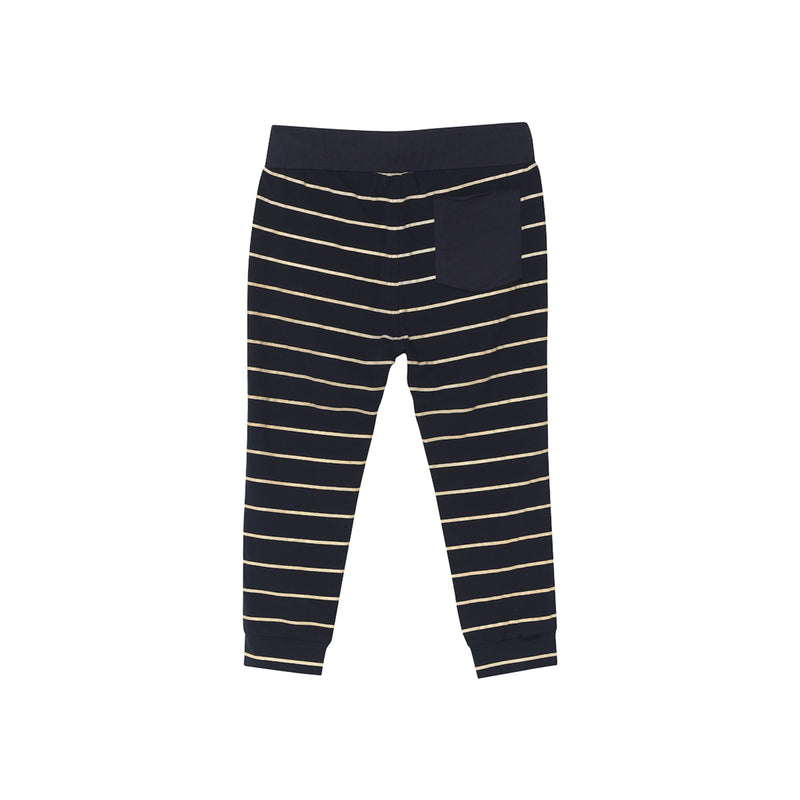 DJ Pants - Navy Gold Stripe