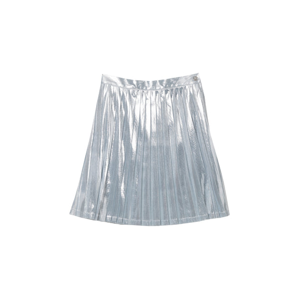 Giga Pleated Skirt - Silver Metallic