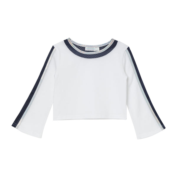 Fonda Crop Top - White Pique