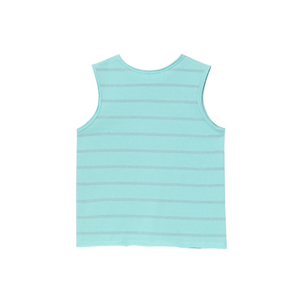 Biff Tank Top - Sky Blue Lurex