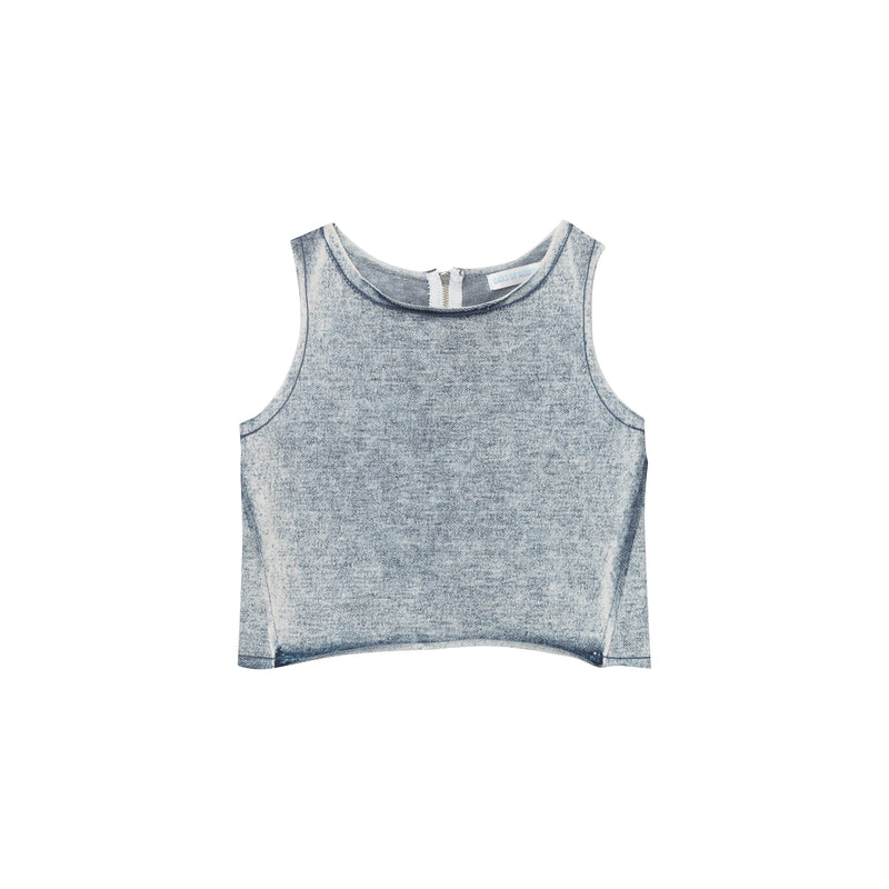 Pam Tank Top - Stone Washed Denim