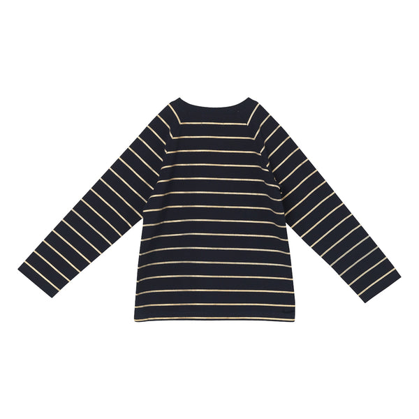 Jackson T-Shirt - Navy Gold Stripe