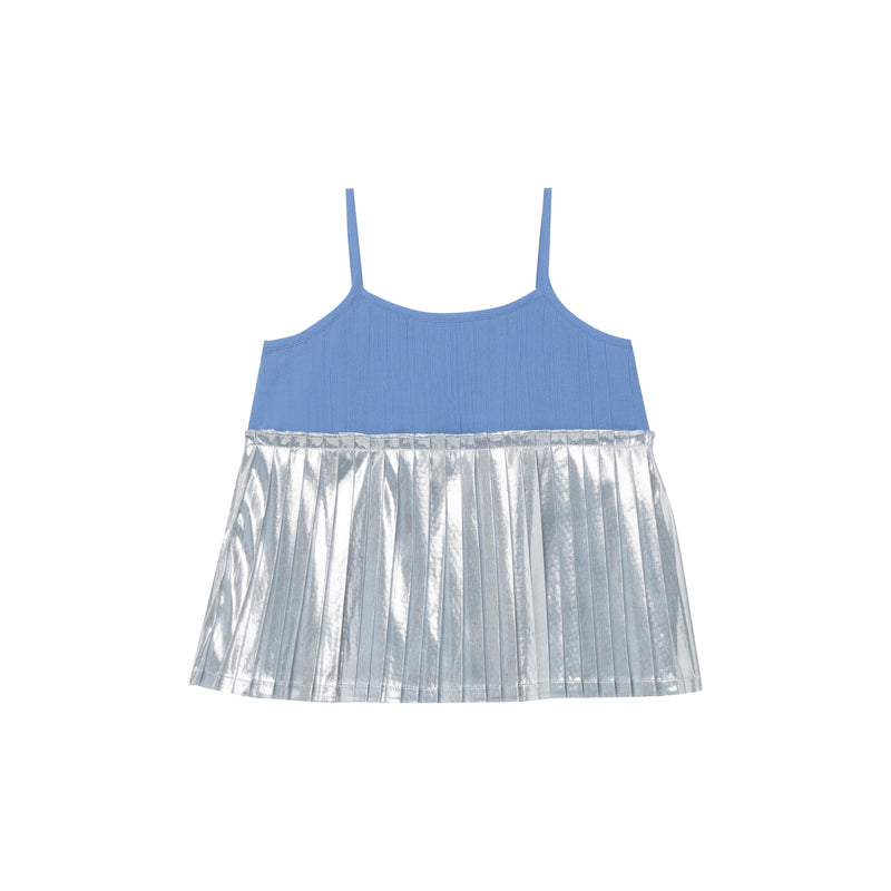 Fritz Pleated Top - Bluebelle