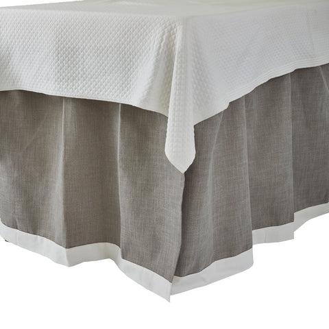 Pewter with White Band Bedskirt