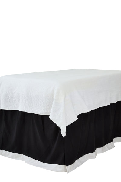 Black with White Band Bedskirt