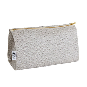 Sarah Grey Ostrich Make Up Bag