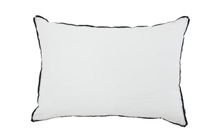 White with Black Flange Oversized Pillow