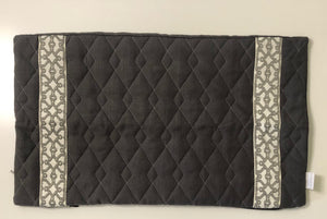 SS-Charcoal Quilted Linen with Tape