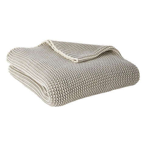 Grey Cooper Throw