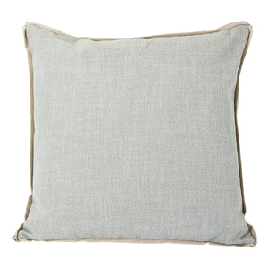 Fog with Danish Flange Colorblock Pillow
