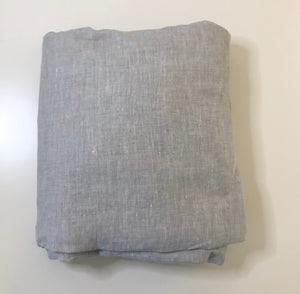 SS-Grey Linen Blend Twin XL Bedskirt