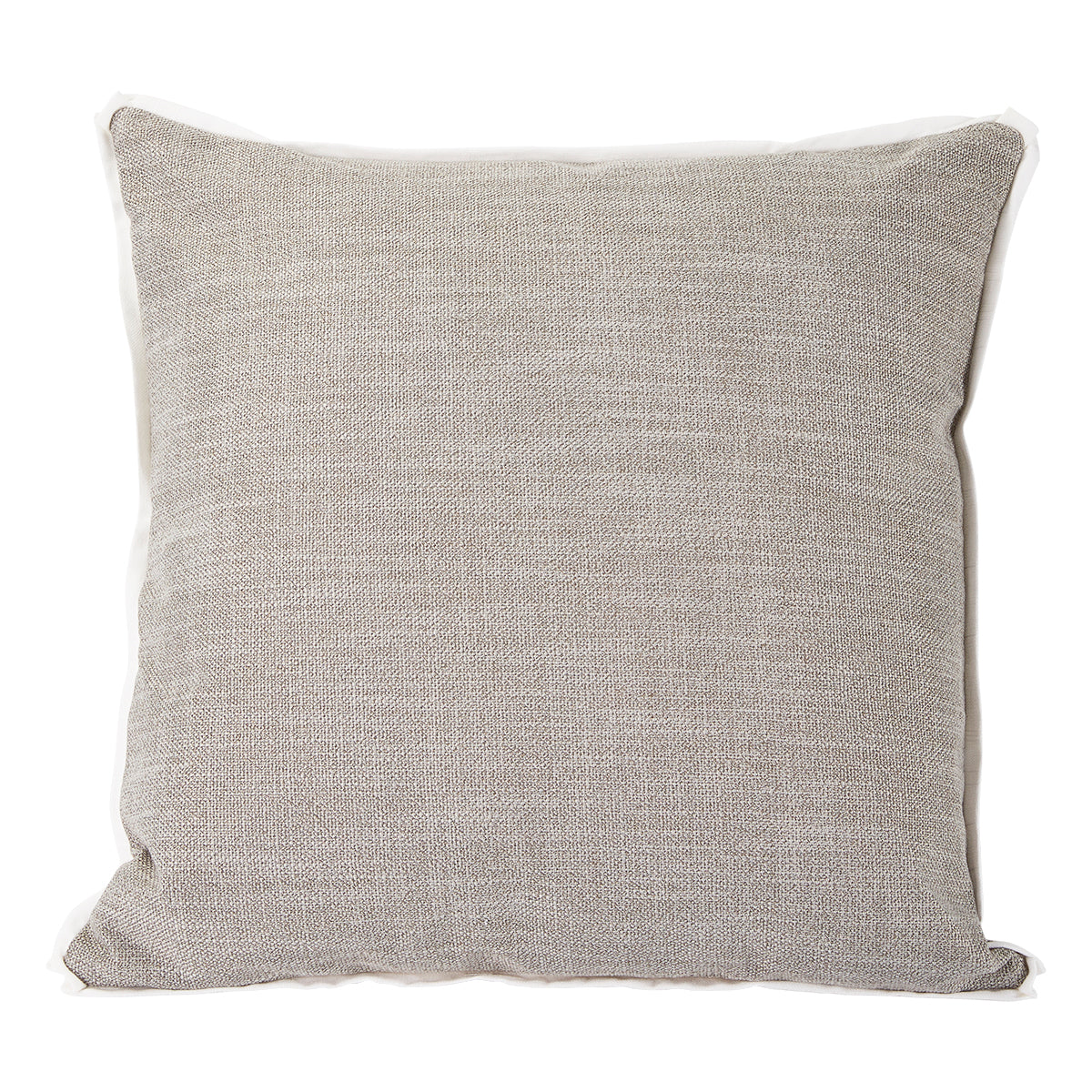 Pewter with White Flange Colorblock Pillow