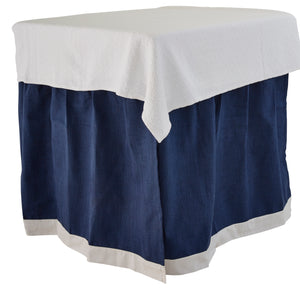 Prussian with White Band Bedskirt